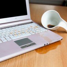Accident pe laptop